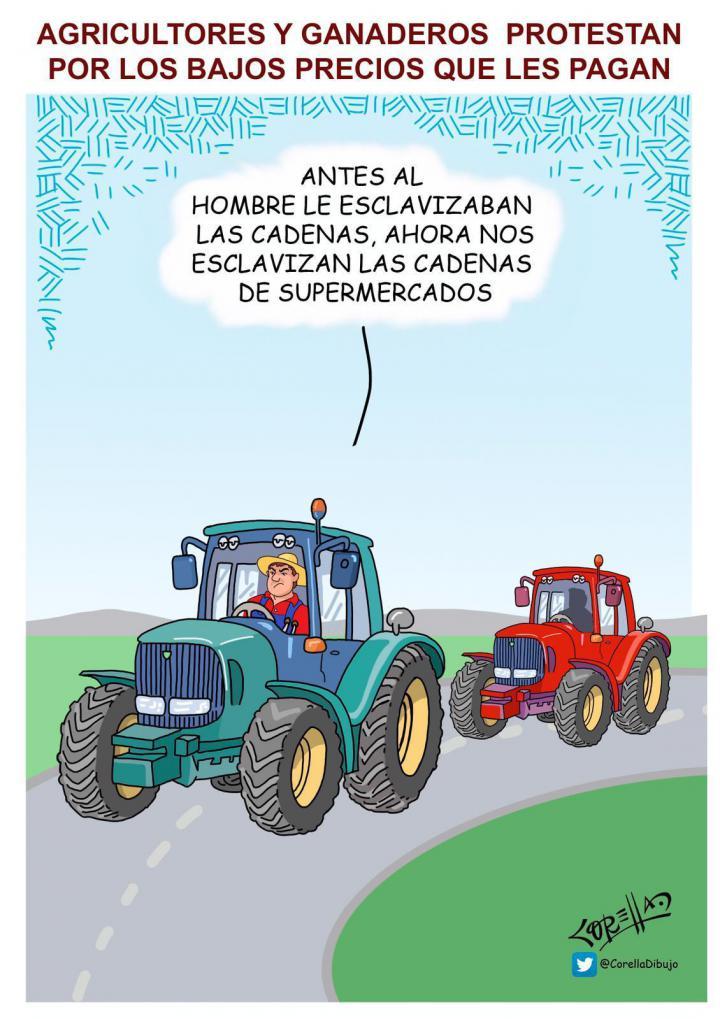 La protesta de los agricultores