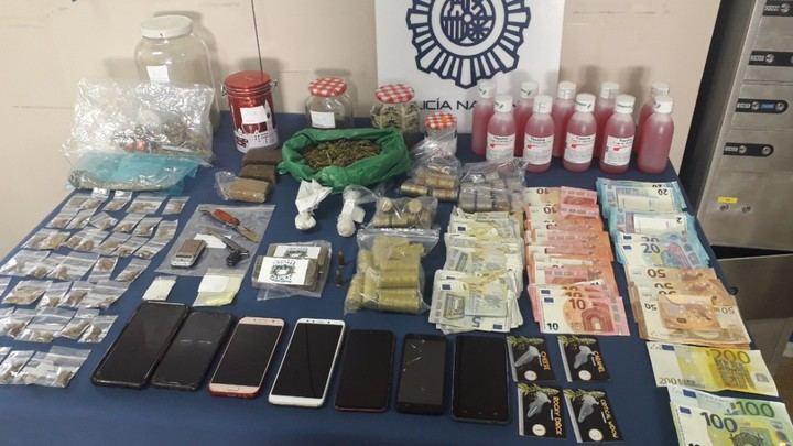 Desmantelados dos narcopisos y diez detenidos en San Sebastián de los Reyes