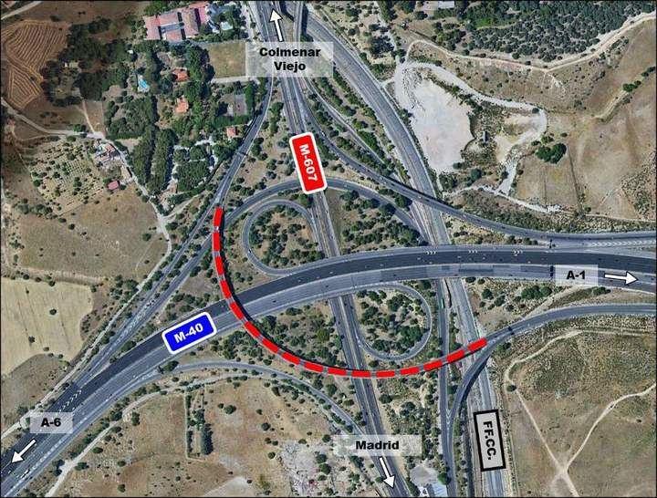 MITMA abre al tráfico la nueva estructura del nudo de Colmenar