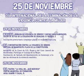 Lectura de Manifiesto contra la Violencia hacia las mujeres en Sanse