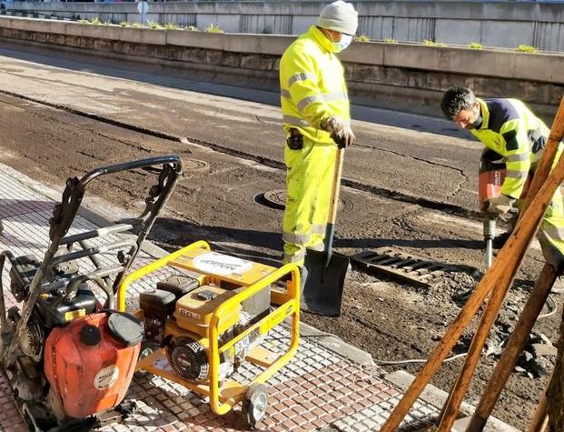 Comienza el asfaltado de los viales más afectados por Filomena