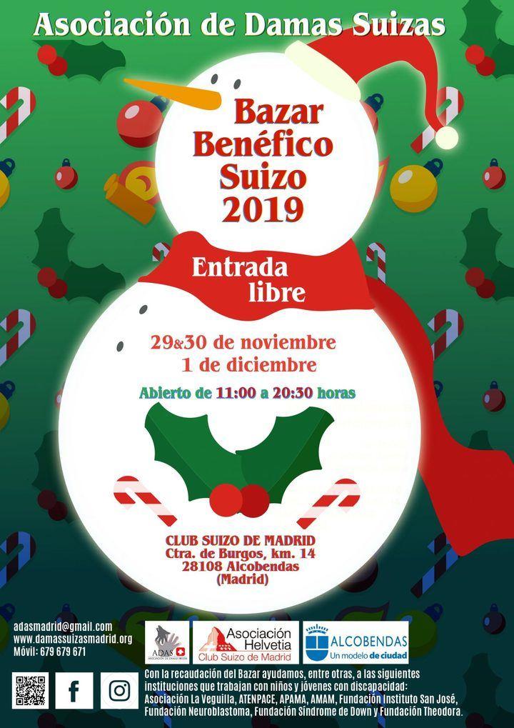 Bazar benéfico navideño en el colegio Suizo de Cuestablanca