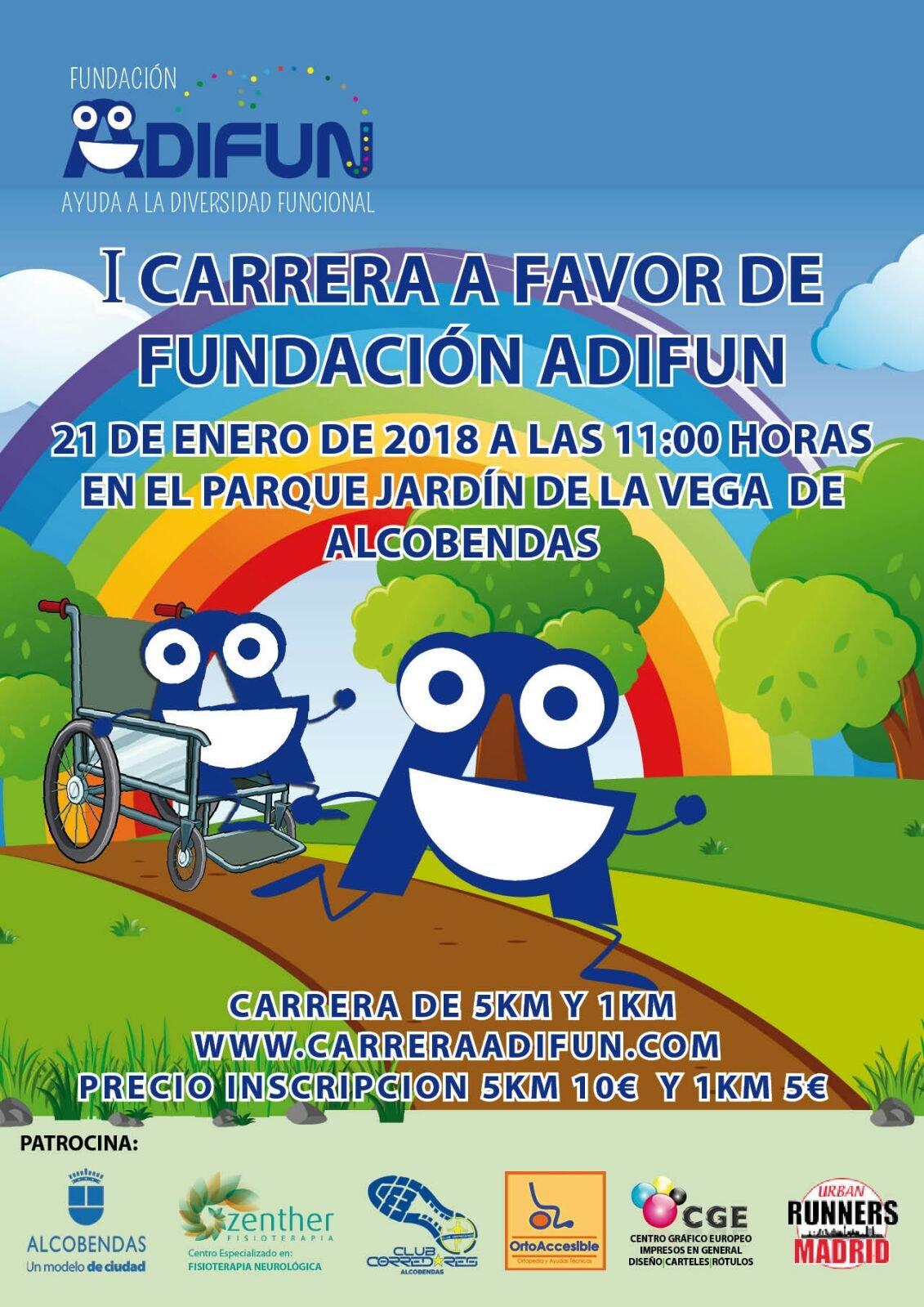 Carrera solidaria en el jardin de la vega a favor de for Jardin de la vega alcobendas