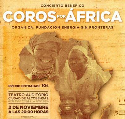 Concierto benéfico 'Coros por África'en el Teatro Auditorio de Alcobendas