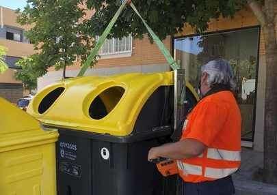 Se renuevan más de 2.000 contenedores de Residuos en Sanse