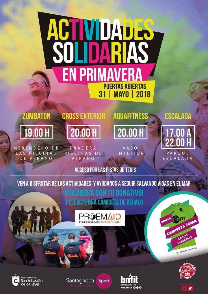 Jornada solidaria de Puertas Abiertas en el polideportivo municipal de la Dehesa Boyal