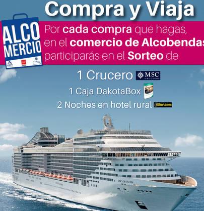 Las compras en el comercio de Alcobendas se premian con un crucero