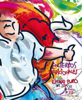 Imagen del cartel de los encierros 2015 que gan� el concurso el ejercicio anterior