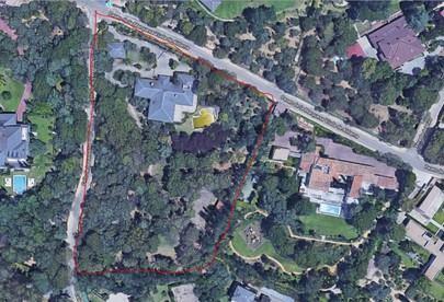 Imagen de la parcela comprada por Sergio Ramos y donde ha talado los árboles
