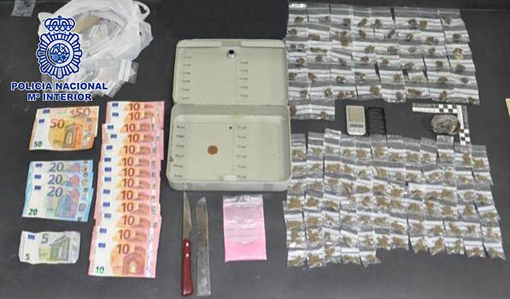 La Policía Nacional desmantela un punto de venta de droga en Alcobendas