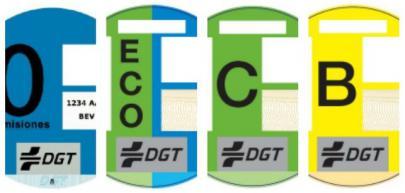 Obligación de llevar los distintivos medioambientales de la DGT para circular por Madrid