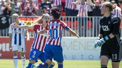 Imagen del Atlético de Madrid en el partido donde se proclamó campeón de liga