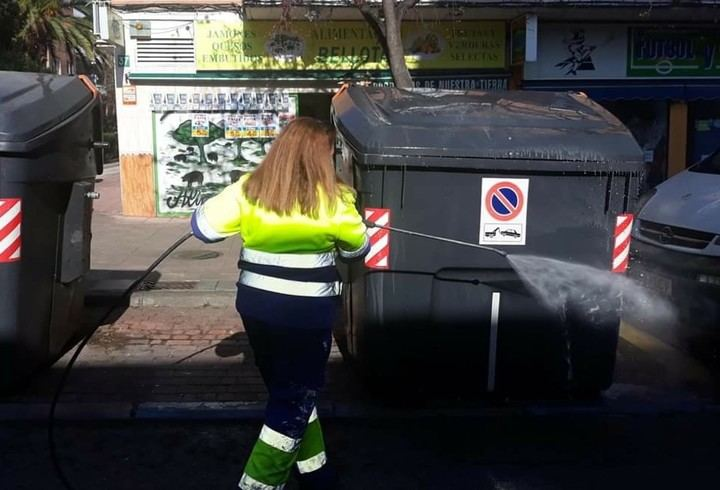 Limpieza intensiva por las calles de Alcobendas por la crisis del Covid – 19