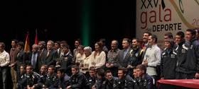 Imagen de la gala del Deporte celebrada en  2012 en Sanse y donde se reconoci� la labor comunicativa de La Tribuna de Alcobendas y Sanse