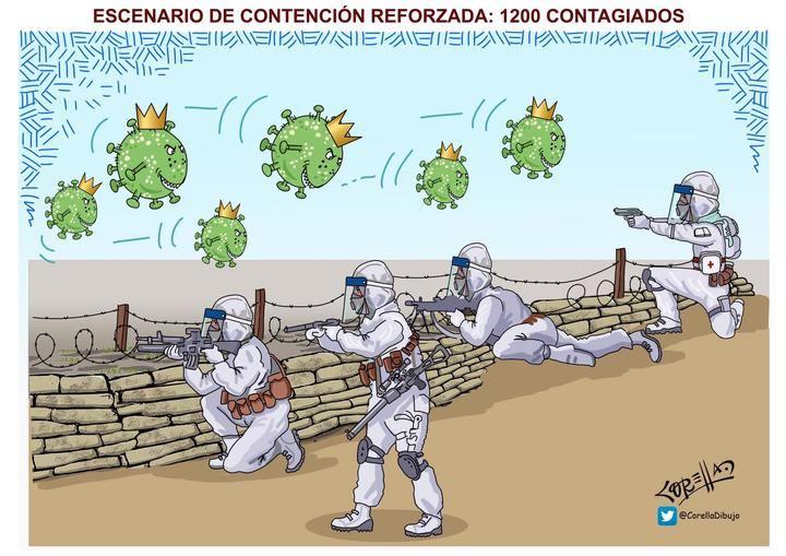 Coronavirus: 1200 contagiados