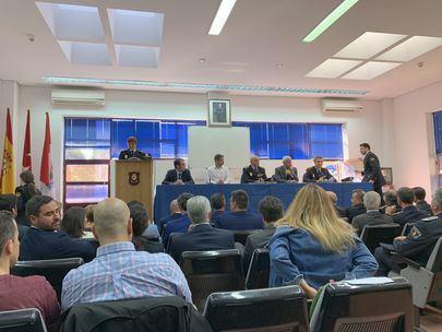 Imagen del acto de ayer celebrado en la Comisaría de la Policía Nacional