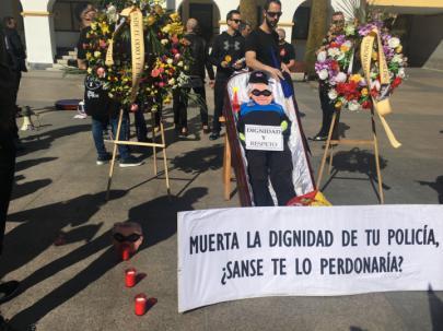 La Policía Local protesta contra la política del Alcalde, Narciso Romero