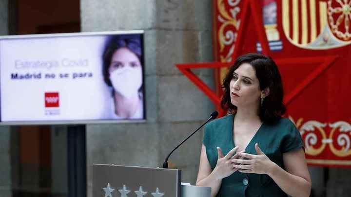 Ayuso no descarta 'parones' o 'confinamientos' en la Comunidad de Madrid