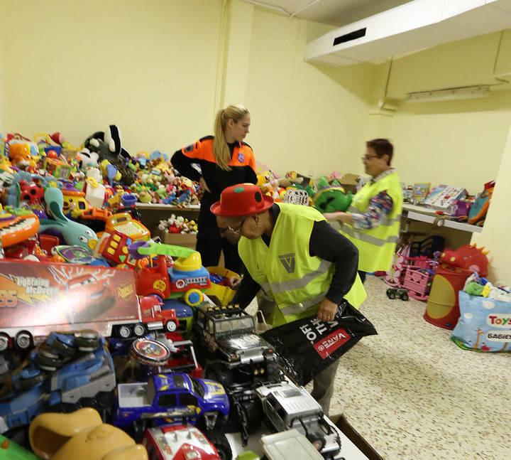 Imagen de la recogida de juguetes que se realizó el año 2014