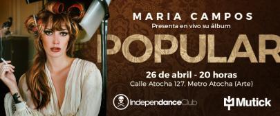 Concierto de la argentina María Campos en Madrid