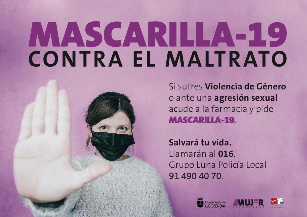 Alcobendas se suma al proyecto 'Mascarilla- 19' para luchar contra la violencia machista