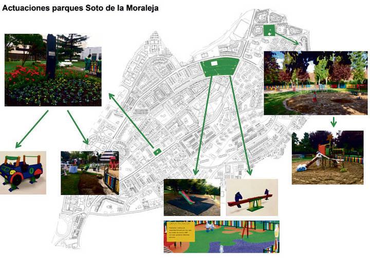 Reformas en el mobiliario y suelo de los Parques infantiles