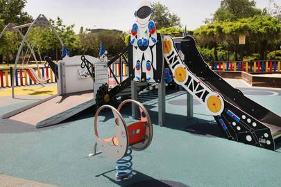 Imagen del nuevo espacio infantil habilitado en el Arroyo de la Vega