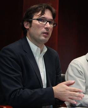 Imagen de Agustín Martín, ponente de las chalras informativas y actual Cuarto Teniente de Alcalde, titular del Área de Economía y Nuevas Oportunidades - Concejal Delegado de Economía, Hacienda, Recursos Humanos, Comercio, Fomento del Empleo , Nuevas Oportunidades y captación de inversiones