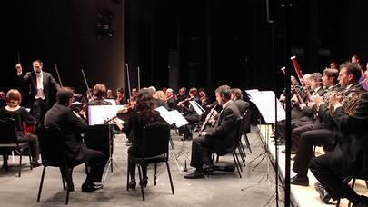 Imagen de la Orquesta Martín i soler durante la celebración de un concierto