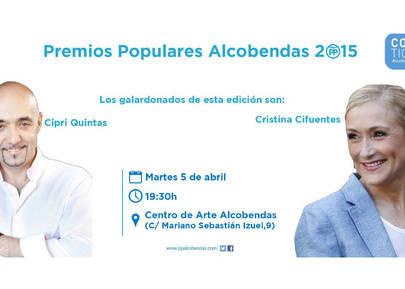 Premios Populares 2015 a Cipri Quintas y a Cristina Cifuentes