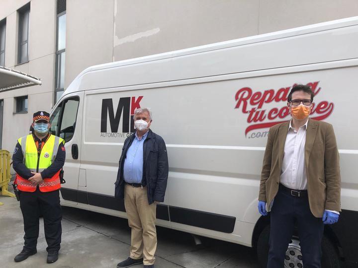 MKD acción solidaria con protección civil de Alcobendas