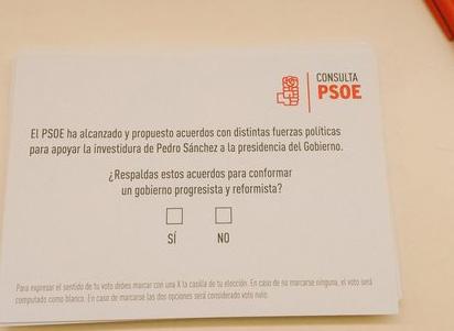 Los militantes socialistas de Alcobendas votan mayoritariamente si en la consulta