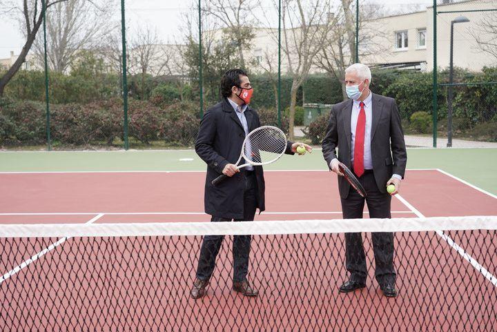 Finaliza la reparación de la pista pública de tenis de Rosa Luxemburgo