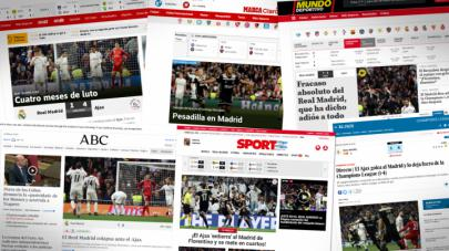 El partido Real Madrid - Ajax visto por la Prensa mundial