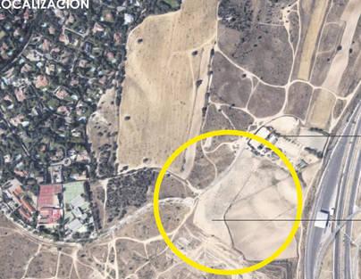 En la imagen con un redondel vemos donde se está construyendo el centro hípico de alto rendimiento