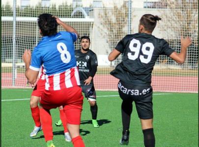 imagen de un partido del equipo senior de La Moraleja Club de Fútbol