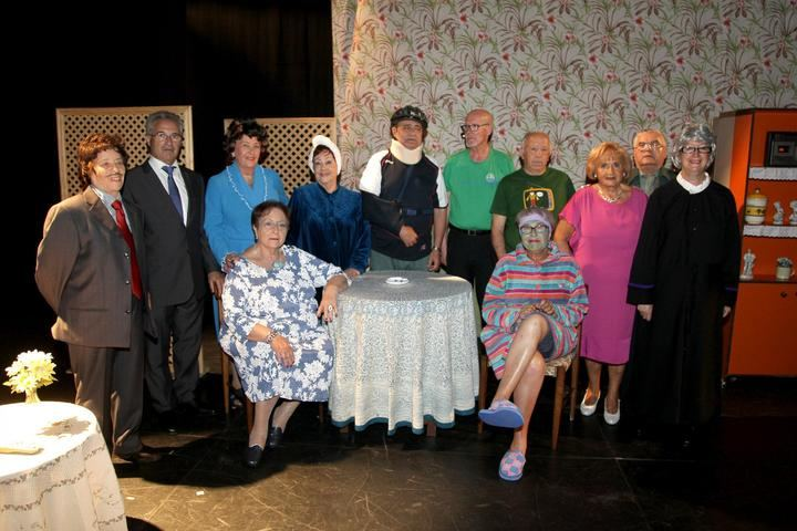 Imagen del Grupo Teatro La Alegría, en una de las actuaciones realizadas el año pasado.