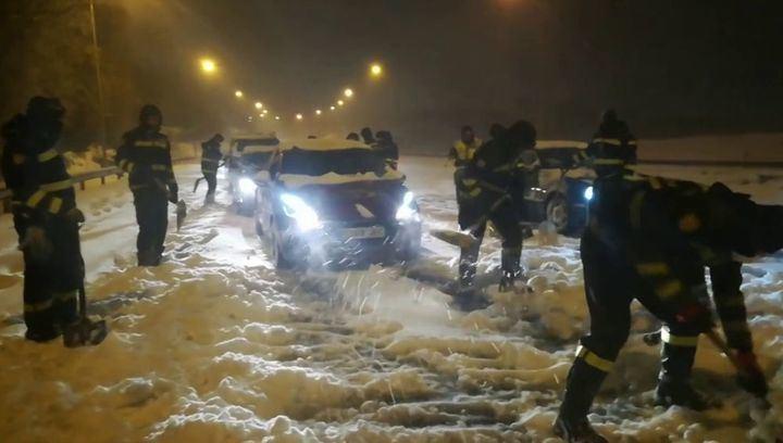 Más de mil conductores atrapados han sido liberados en las carreteras de Madrid