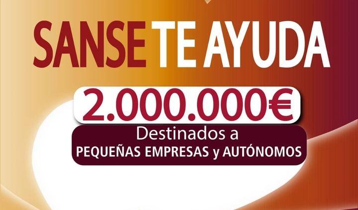 Sanse invertirá dos millones de euros en ayudas directas a empresas y autónomos