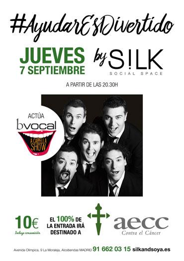 Gala solidaria contra el cáncer en el restaurante Silk Soya