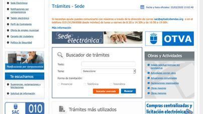 La web municipal de Alcobendas facilita hasta 133 trámites desde casa
