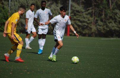 Imagen del partido de la primera jornada de liga donde el Alcorcón B ganó en casa del Alcobendas Sport (0-2)
