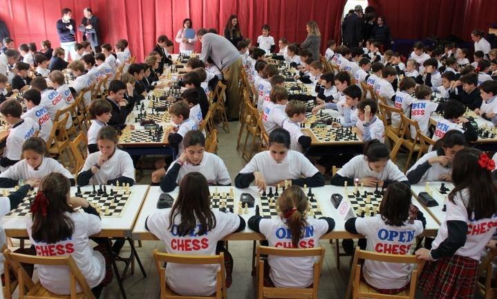 Imagen d una de las ediciones anteriores del Open Chess celebrado en las instalaciones del colegio Aldovea de La Moraleja