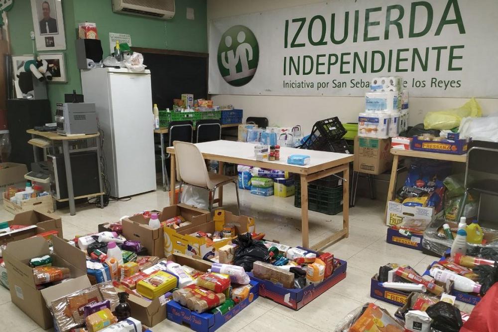 Izquierda Independiente ayuda a más de 100 familias de Sanse