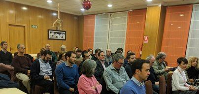Imagen de una Asamblea de Ciudadanos Alcobendas celebrada el pasado mes de diciembre en un restaurante de Alcobendas