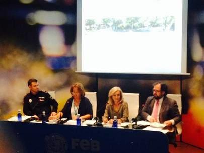 Imagen de la asamblea general ordinaria del año pasado celebrada en el edificio de la federación española de baloncesto.