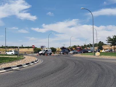 Continua a buen ritmo el asfaltado de la M-616