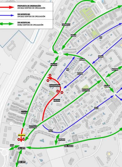 Ordenación del Tráfico en Azalea, Begonia, Hiedra, Zarzamora e Iris