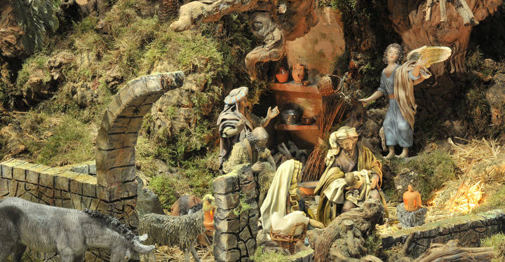 Belén monumental y recreación belenística de La Vereda en Sanse
