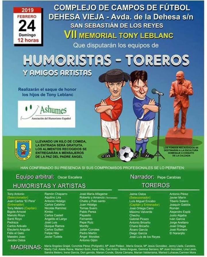 Partidos de Humoristas y Artistas contra Toreros en Sanse